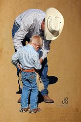 A Little Help, by Scott Gutke (SGutke) Tags: scott cowboy chaps littlecowboy scottgutke gutke bucklingchaps