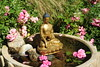 Brass statue of Lord Buddha in the earth touching mudra, holding begging bowl, water fountain, lotus petals, rocks, pink carpet roses, Tibetan Buddhist style, (gift from HH Dagchen Sakya), A Garden for the Buddha, Seattle, Washington, USA (Wonderlane) Tags: seattle usa reflection statue religious washington rocks earth buddha lord spiritual waterfountain brass touching mudra 1276 lotuspetals pinkcarpetroses agardenforthebuddha statueoflordbuddhaintheearthtouchingmudra tibetanbuddhiststyle brassstatueoflordbuddhaintheearthtouchingmudra holdingbeggingbowl overawaterfountain giftfromhhdagchensakya