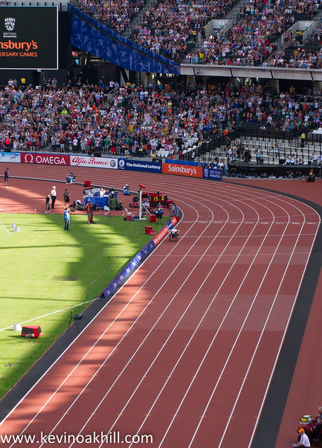 David Weir with a huge margin of victory and a world record in the T54 mile, London Paralympic Anniversary Games, Olympic Stadium