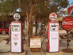 Route 66 old gas tanks (ale.usa) Tags: old arizona usa america route66 historic gas cocacola gasoline tanks mobilgas