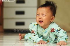 Huzaifah (2121studio) Tags: portrait baby nature smile kids children happy nikon ali portraiture malaysia cheer indah kuantan alam nikonian d90 malaysianphotographer meniarap huzaifah merangkak kanakkanak 2121studio kuantanphotographer pahangphotographer ciptaanallahswt