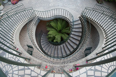 Winding Down (boingyman.) Tags: sf sanfrancisco city architecture stairs curves winding embarcaderocenter boingyman