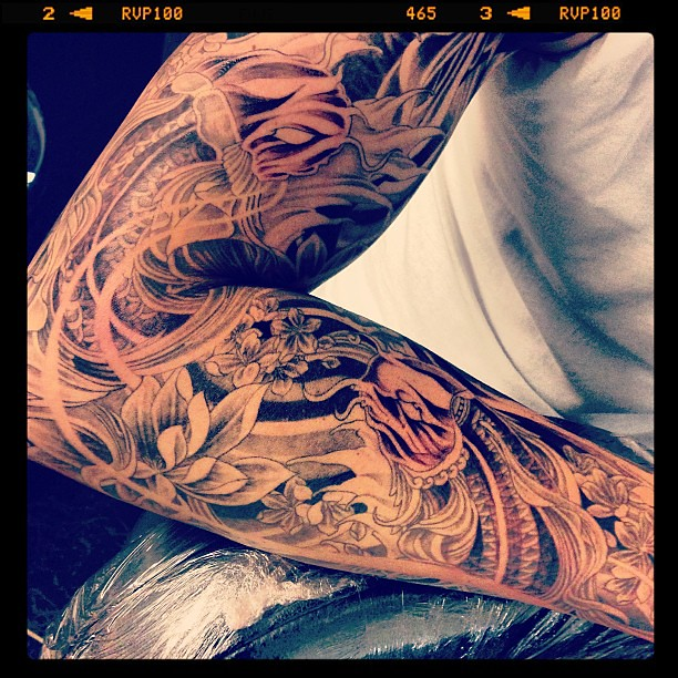 the world 39 s best photos of irezumi and koi flickr hive mind. Black Bedroom Furniture Sets. Home Design Ideas