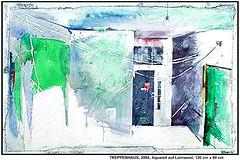TREPPENHAUS (PRENZLAUER BERG) (CHRISTIAN DAMERIUS - KUNSTGALERIE HAMBURG) Tags: orange berlin rot silhouette modern strand deutschland see stillleben dock gesicht meer wasser foto fenster räume hamburg herbst felder wolken haus technik menschen container gelb stadt grün blau ufer hafen fluss landungsbrücken wald nordsee bäume ostsee schatten spiegelung schwarz elbe horizont bilder schiffe ausstellung schleswigholstein figuren frühling landschaften wellen häuser kräne fläche acrylbilder hamburgermichel realistisch nordart acrylmalerei expressionistisch acrylgemälde auftragsmalerei bilderwerk auftragsbilder kunstausschreibungen kunstwettbewerbe galerienhamburg auftragsmalereihamburg cdamerius hamburgerkünstler malereihamburg kunstgaleriehamburg galerieninhamburg acrylbilderhamburg virtuellegaleriehamburg acrylmalereihamburg