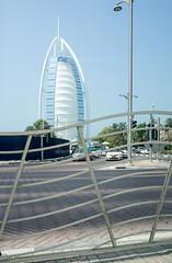 "Burj Al Arab, the famous ""7 star"" hotel. (Tiigra) Tags: 2013 dubai architecture city fence shape unitedarabemirates"