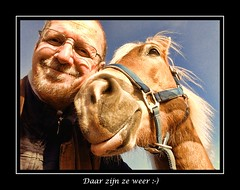 Gill en Sarah (gill4kleuren - 11 ml views) Tags: horse me sarah fun lol gill saar paard haflinger