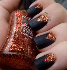 Radiante (NailArtNat) Tags: art glitter nail super preto risque pérola unha fosco radiante artística decorada