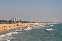 View from the wheel (sjb5) Tags: ocean california sea beach wheel pier sand view santamonica pacificocean ferriswheel santamonicapier pacificpark santamonicabeach pacificwheel