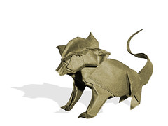 Tomcat (Nicolas Terry) (Danielle Verbeeten) Tags: art cat paper kat origami kunst danielle gato papier paperfolding folding vouwen vouwkunst grosmatou papierkunst papiervouwen