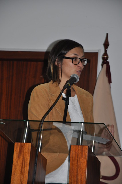 Sonia Aguilar invita a los asistentes a ser parte del cambio.
