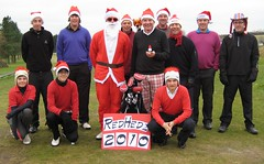 004 - The inaugural RedHedz Roll-Up Xmas Trophy organized by Neville Wootton (Neville Wootton Photography) Tags: golf fatherchristmas tomcarter stuartpayne canonixus70 nathanjenkins stmelliongolfclub joeyorke niallhutton nevillewootton rayhutton martynhunkin roydransfield kevinwhiteley mensgolfsection 2010golfseason redhedzrollupxmastrophy