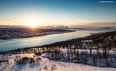 Arctic Spring (Adam Palander's) Tags: trees sunset sky sun snow mountains nature landscape spring arctic