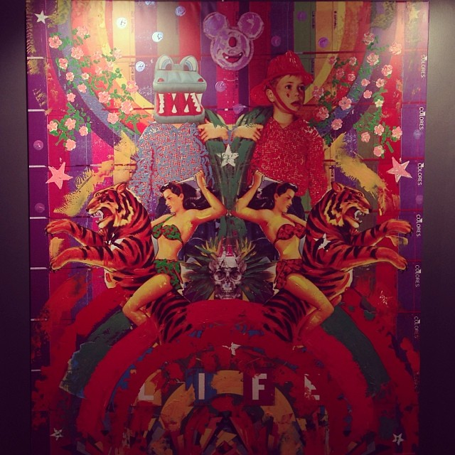 """""""Selva y Color"""" Claudio Roncoli • """"Bestiario"""" #muestra colectiva #arteenlima #arte #artinlima #art #artist #artista"""
