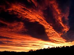 Flaming Sunset (bjorbrei) Tags: sunset sky night clouds evening cloudy flaming