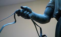 Charioteer of Delphi, hand