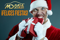 Felices fiestas 2013 (Mario Esteve) Tags: christmas portrait people holiday male men costume holding adult box humor evil anger newyear biting celebration gift devil santaclaus characters aggression frustration damaged behavior mischief brat bizarre oneperson furious gripping christmaspresent crumpled caucasian wrappingpaper hysteria displeased giftbox cruel distraught mentalillness traditionalclothing 3035year