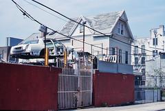 (andre dos santos) Tags: auto new leica york city nyc newyorkcity newyork film car shop 35mm 50mm kodak body bronx rangefinder slide east chrome 200 transparency format 135 thebronx m3 wreck ektachrome mechanic summilux e200 asph rf tremont easttremont