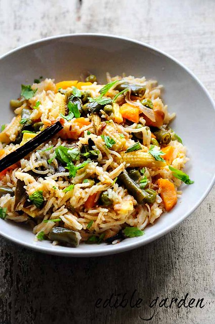vegetable pulao-how to make veg pulao recipe