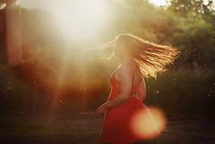 sun (- b e t h -) Tags: morning red orange sun wet water girl yellow speed vintage wow hair 50mm evening droplets dress natural bright action vibrant gorgeous exploring fast adventure flip spinning shutter lovely tones sunspot sunflare
