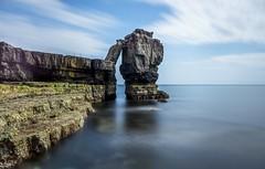 Pulpit Rock (Robgreen13) Tags: ocean uk longexposure seascape water clouds stack coastal dorset limestone weymouth stopper portlandbill pulpitrock