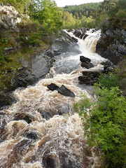 Rogie Falls (jkw_fire_horse) Tags: waterfalls scotland rogiefalls inverness highlands water rocks gully landscape