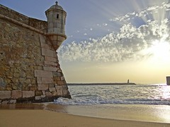 Amanhecer (ndreia) Tags: sonydschx200v portugal algarve lagos 2016 fortaleza fortress praia beach praiadabatata