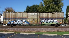Geks/Shear (quiet-silence) Tags: graffiti graff freight fr8 train railroad railcar art geks shear boxcar cmhx cmhx71176