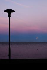 sunset-moonrise (thekretzers) Tags: sunet moon lamp water