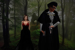 Highwayman Trilogy C (Chatwick Harpax) Tags: prickling shivers ballroom halloween mausoleum masquerade sexy posh highsociety debutante princess fashion redcarpet blacktie fancydress silkdress satingown velvet midnight jewels thief robbery second life secondlife sl robber scary spooky fullmoon sinister rogue poem poetry highwayman highwayrobbery standanddeliver knave damsel damselindistress distress ghostly ghastly gloomy misty trap silk mask masque bandit fogsend terror dream nightmare