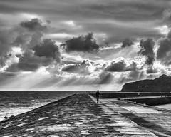 Autumn Morning Stroll (adrian.sadlier) Tags: howth howthharbour sea sky clouds dublin ireland autumn stroll walk pier sunbeam