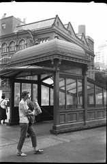 Astor Place Station (je245) Tags: kodaksignet35 kodakektar44mmf35 kodak px125 diafine nyc newyork