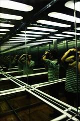 Self (shampubanana) Tags: self myself portrait elevator mirror kodak photo me man human person inside analogue light df selfportraits selfie people