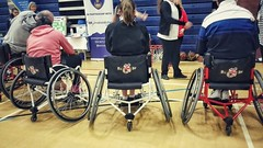 Great #wheelchairsports taster session this morning in #Portsmouth Next opportunity is 13th October 10a.m. -12p.m. @flemingparklc