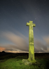 Spirit (johnkaysleftleg) Tags: youngralphcross northyorksmoors yorkshire canon760d stars cross night astro samyang12814mmedasifumc