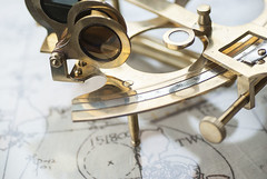 #sextant #tool #navigation (Sigrid_Silverheart) Tags: map ocean oldtools navigation macro sextant