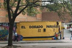 (Implosion VoidListica) Tags: medellin colombia calle antioquia arbol amarillo verde graffiti pinta negro naturaleza tronco trabajo caa