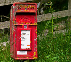 Post Box (wontolla1 (Septuagenarian)) Tags: winterburn weets gate malham calton landscape walking hiking yorkshire moors dales cove barn red post box letters royal mail