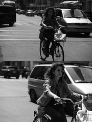 [La Mia Citt][Pedala] (Urca) Tags: milano italia 2016 bicicletta pedalare ciclista ritrattostradale portrait dittico nikondigitale mir biancoenero blackandwhite bn bw 8981