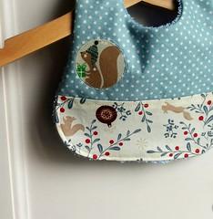 Christmas baby bib, detail (_Giorgia) Tags: cristmasgift christmasbabygift christmasbibs bibs babybibs handmade holidays etsy