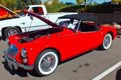 Our Day At The Car Show (thegreatlandoni) Tags: carshow car engine outdoor denver suburbs colorado red sportscar shiny bright mg chrome