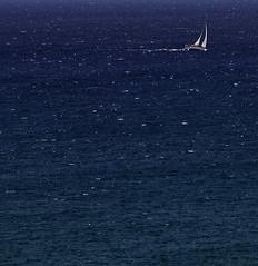 Sailing Into the Blue Again (chris.willis3) Tags: rhodes sea waves blue boat sail sailing nikond5200 chriswillis3