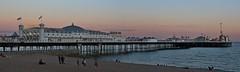Brighton Pier at dusk (Carol Spurway) Tags: brighton dusk sunset pier thebrightonmarinepalaceandpier palacepier brightonpier brightonpalacepier west view