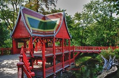 Der Rote Tempel...The Red Temple (kh goldphoto) Tags: 2012 hdr leipzig sachsen park pavillon best panoramio138237088266034 zoo asiapavillon pagode asien tempel nikon