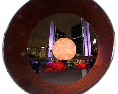 O (scienceduck) Tags: deathofthesun scienceduck 2016 wideangle toronto tdot ontario canada nuitblanche art directorx nathanphillipsquare cityhall mrx