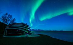 Aurora at Nupen. (Reidar Trekkvold) Tags: auroraborealis xt2 xf1024ois fujifilm kveld kvæfjord landscape natur nature nordnorge norway nupen sea seascape seaside sjø troms vinter winter