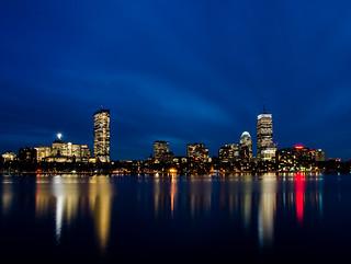 An iconic city skyline