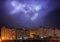 Tormenta de verano... (Explored 13/11/2016) (protsalke) Tags: night urban city storm thunder thunderstorm sky cielo clouds nubes rayos tormenta rain lluvia lights luces cadiz valdelagrana verano