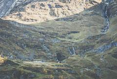 Nordic Houses (ervega) Tags: noruega norway viking vikingo geiranger fjord landscape escenario escandinavia scandinavia green verde cascade cascada water nature naturaleza cold frio haze niebla neblina