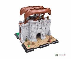 Kastra Gatehouse (Gunman (Giorgos Solomonidis)) Tags: gunman lego lurikeen diorama medieval historic gatehouse moc goh