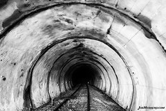 The Darkness After The Tunnel (Joe Herrero) Tags: madrid abandoned robregordo apeadero joe herrero wwwjoeherrerocom railroad via tunnel tunel tren train